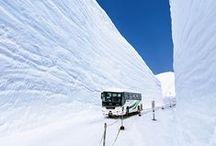 Route Alpine Tateyama Kurobe / La célèbre route Alpine de Tateyama Kurobe offre des paysages à couper le souffle, tout au long de l'année