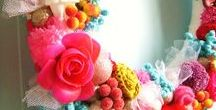 Wreaths / Lovely colorful wreaths, wreath tutorials, wreath patterns