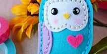 Owls / Owl love. Felt owl, embroidered owls, sewed owls, handstiched owls...