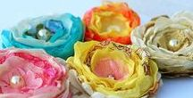 Fabric Flowers / Fabric flower tutorials, free fabric flower patterns, fabric flowers