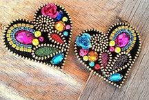Zipper / Zipper crafts, zipper jewelry, zipper brooches