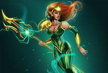 Cosplay: Mera (DC Comics) / Debuting at Phoenix Comicon 2016