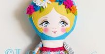 Dolls / Cute handmade dolls and rag dolls. Doll patterns, doll tutorials