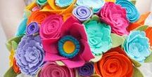 Felt flowers / Handmade felt flowers, felt flower tutorials, felt flower patterns, diy felt flowers, felt flower garland, learn how to make felt flowers