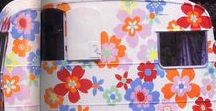 Happy camper life / Happy camper life. Colorful and joyful campers and rv`s. Renovated campers and caravans