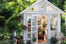 Garden Sheds / Shed for your garden tools, friends, rest, read a book, women's cave.