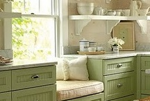 Kitchens!  Casual Elegance / Sophistication of a living room but with a casual twist that also brings the feel of outdoors in.  Classic, with modern touches that are easy to switch out, and cleaver organization and storage Ideals.