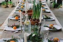 Table settings / Beautiful table decor and interior style.