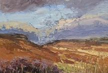Colin Halliday paintings at Tarpey Gallery / Work by derbyshire based outdoor painter Colin Halliday