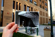 Dear Marquette / Then & now on Marquette's campus. Concept by Josh Arter, Comm '12, inspired by dearphotograph.com. Find historical campus images at http://go.mu.edu/muarchives and share your creations on Twitter with hashtag #DearMarquette
