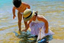 Art - Seasides / Water and beach specific paintings and illustrations that inspire me in some way. -CAB / by Cindy Briedis