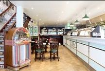 Poppies Fish and Chips / Our vintage restaurant design in the heart of Camden Town.