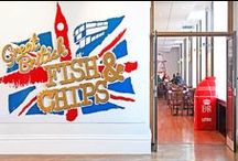 Great British Fish and Chips / Our contemporary homage to Britishness bursting with colour and fun. In the heart of London.