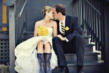 Blue and Gold Wedding / Ideas, tips and tricks for how to incorporate Marquette into your special wedding day.