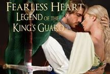 Fearless Heart - Book 3 - The Legend of the King's Guard series / Lillia Hunter has been infatuated with Heath since she was wee. When he was sent away, she despaired that she'd ever see him again. Now she is in dire trouble. Old feelings return when Lillia runs into Heath. She cannot help but be ensnared by his handsomeness or chivalry. Only Heath can keep her from the hands of her enemies. She must maintain a FEARLESS HEART, one that will hopefully lead to a love she always dreamed of.