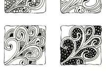 Zentangle Art: Tangle Patterns and Inspirations / Zentangle ® drawing inspirations, step-outs, tangles and tangle patterns, tips and tutorials
