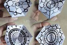 Zentangle Art: Ideas for using your Tangles / Zentangle ® Inspired Projects and other ideas / tutorials to use with Zentangle