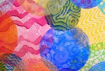Art: Printmaking / Gelatin Plate, Gelli Plate, Monotype printing and tutorials / by Sadelle Wiltshire - Tangle Vermont