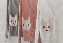 Cats & Clothing / Cats and cat clothing.