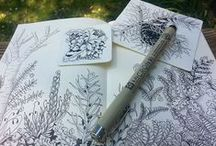 Zentangle Art: Tangles Botannica / Organic, Botannical inspired Tangle Patterns and Zentangle® Inspirations, reminiscent of leaves, stems, floral, flowers, etc.