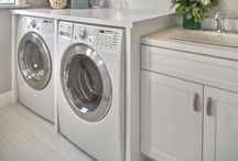Home: Laundry Room / Looking to makeover your laundry room?  Me too!  Here are some great laundry room home tours and ideas!