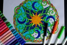Mandalas to Color / Mandalas to color for children and adults. Many of the links have printable options.