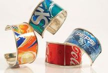 Jewelry Making: Upcycled materials / Jewelry Making: How-to instructions, DIY and step by step walk-thru tutorials using upcycled, recycled and eco friendly solutions.  Upcycled soda bottle jewelry, tin can jewelry, plastic jewelry, metal jewelry and more
