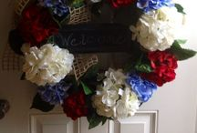 Deco Mesh Wreaths / These are wreaths I have made and one is one I liked