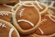Football Party / ---  [foot-bawl]: an excuse for deep-fried, chocolate-covered, sweet-and-salty goodness  --- / by Katie Paige