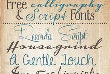 Fonts / by Cathy Bybee