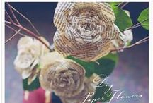 Paper Flowers / Real flowers die. Paper flowers last and can be upcycled from a variety of materials.