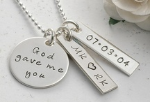 My Jewelry Collection / A collection of personalized hand stamped jewelry created by me. / by Mary Haertling Kyburz