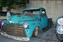 """""""Patina"""" truck / Patina gekleurde amerikaanse auto trucks"""