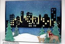 CityScape Downtown SkyScraper Skyline Cards
