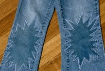 DENIM Recycled / OLD BLUES NEW LIFE. Recycle, upcycle, refashion, reuse. / by Elena Maple