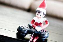 Elf on the Shelf / Elf on the Shelf ideas. Happy Holidays!