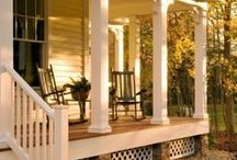 Dream House: Outdoors / Porches and backyards for my dream house!