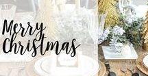 Merry Christmas / Christmas ideas, crafts and DIYs to help celebrate the season! #christmas #holidays #homedecor #DIY #crafts