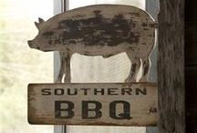 """Southern Barbecue / In the South, """"Barbecue"""" doesn't mean cooking a hamburger or steak outdoors. That's """"Cooking-out"""" or """"Grilling."""" Barbecue to us means the METHOD and a great . . . SAUCE!"""
