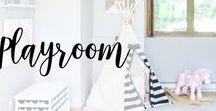 Playroom / Fun and creative playroom ideas, projects and decor! #playroom #DIY