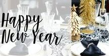 Happy New Year!! / New Years ideas, crafts and DIYs to help celebrate the brand new year! #newyearseve #holidays #homedecor #DIY #crafts
