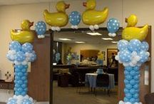 Ideas - baby shower balloons / Thank you for checking my Idea Book filled with inspiring baby shower decor created by balloon friends around the globe.  Let me create something similar for your event!