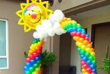 Ideas - balloon arches / Thank you for checking my Idea Book filled with inspiring decor created by balloon friends around the globe.  Let me create something similar for your event!