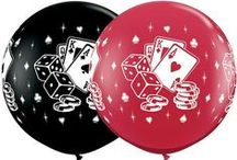 Ideas - Casino theme balloons / Thank you for checking my Idea Book filled with festive casino  decor created by balloon friends around the globe.  Let me create something similar for your event!
