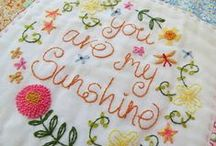 My Embroidery Designs / Pretty embroidery designs, inspired by vintage linens and inspirational words and phrases.