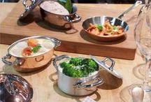 Mauviel M'minis / Copper & stainless steel mini cookware. M'minis are designed to be high performance and displayed to create a stunning effect on your guests.