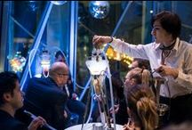 MEDUSE Events / Shisha shows performed by Meduse are suitable both for exteriors and for the most ostentatious interiors. Shisha smoke does not leave – unlike classical tobacco smoke – any trace indoors. That's another reason why Meduse shishas become the centre of social events, company parties, fashion shows, weddings, golf tournaments or private parties.  Adventure smoking of Meduse shishas is based on top service of our shisha sommeliers who are – similarly to top bartenders – masters of mixology.