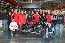 The production of the Moto Guzzi California Custom 2013  started! / The beloved MG California Custom in Mandello del Lario ready to go!