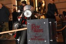 Roy Roger's and Moto Guzzi / Roy Roger's and #motoguzzi come together for a collection dedicated to passionate riders. Selected photos in honor of the product launch - January 12th, Roy Roger's Store, Florence.