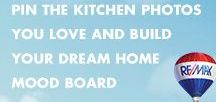 Mood Board | Kitchens / Deciding what you want in a dream home can be tough, which is why we created The Dream Home Mood Builder. Simply pin photos from each of our categories to build your mood board, then share with a RE/MAX agent and we'll start dream home hunting.